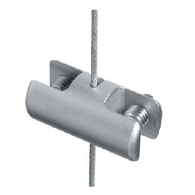 Pince verticale double sur câble Ø3 mm