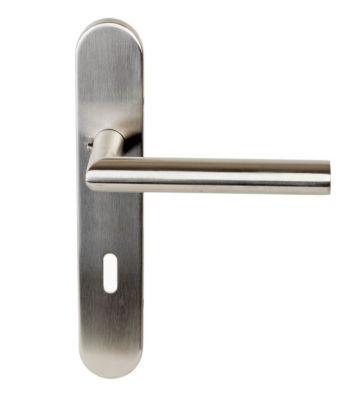 paire de b quille droite sur plaque de porte inox 304. Black Bedroom Furniture Sets. Home Design Ideas