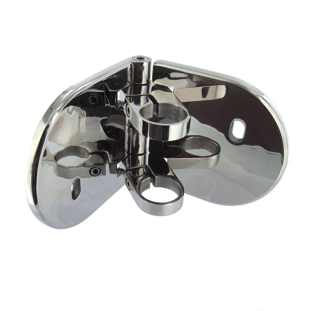 platine de fixation d 39 angle mod le 55 poli miroir. Black Bedroom Furniture Sets. Home Design Ideas