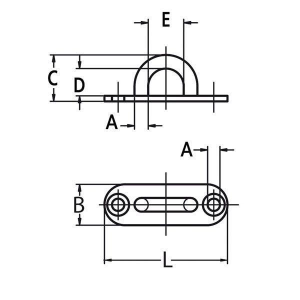 Platine ovale avec anneau