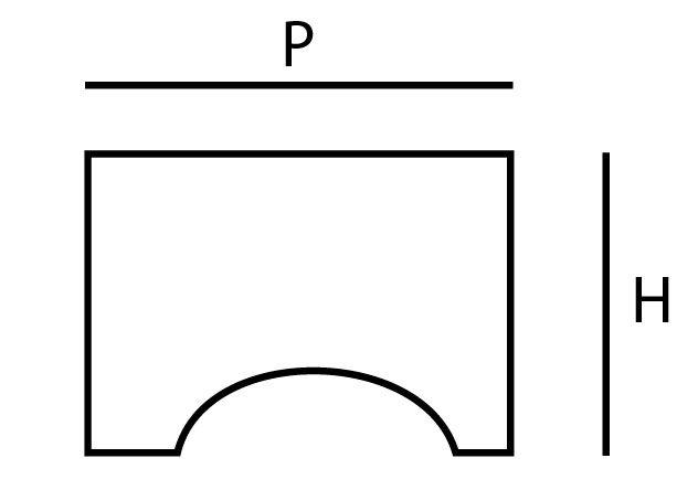 Poignée bouton carré inox simple ergot