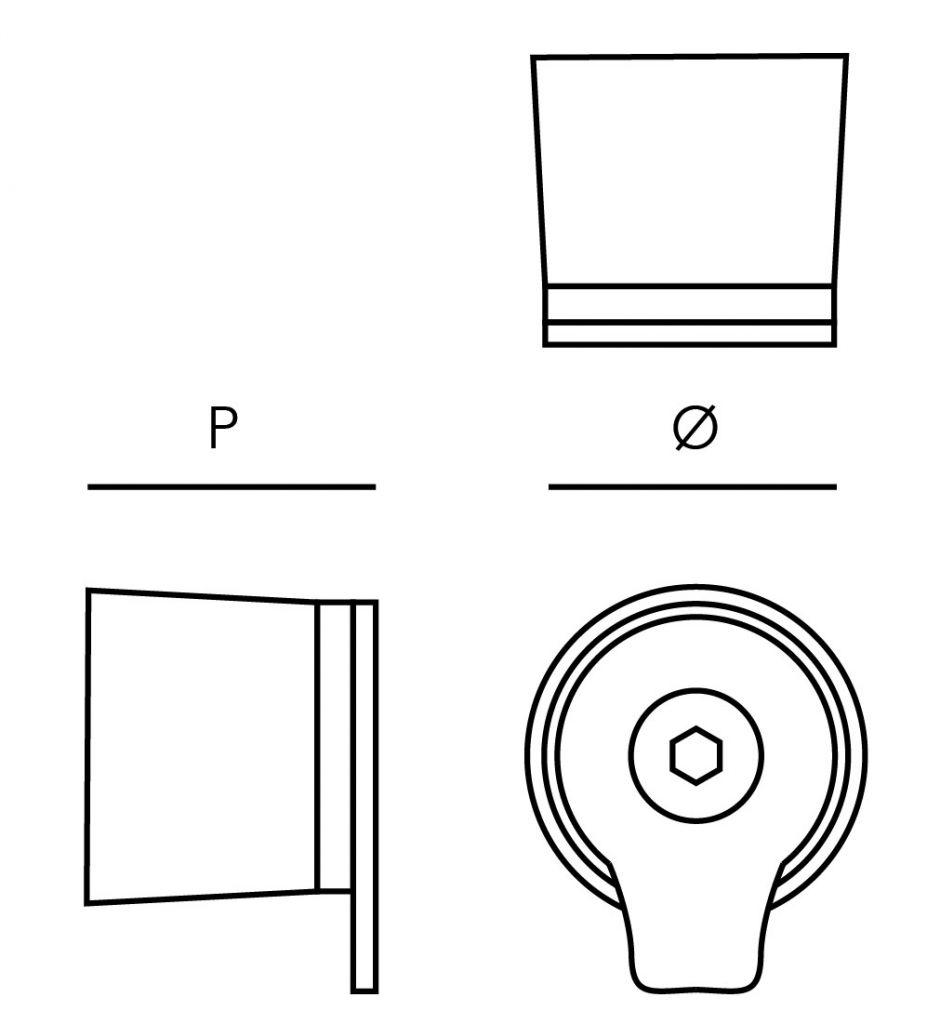 Poignée bouton fixe inox