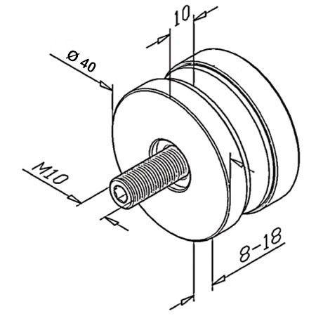 Point de fixation Ø40 mm