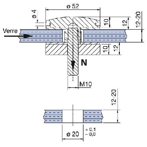 Point de fixation Ø52 mm