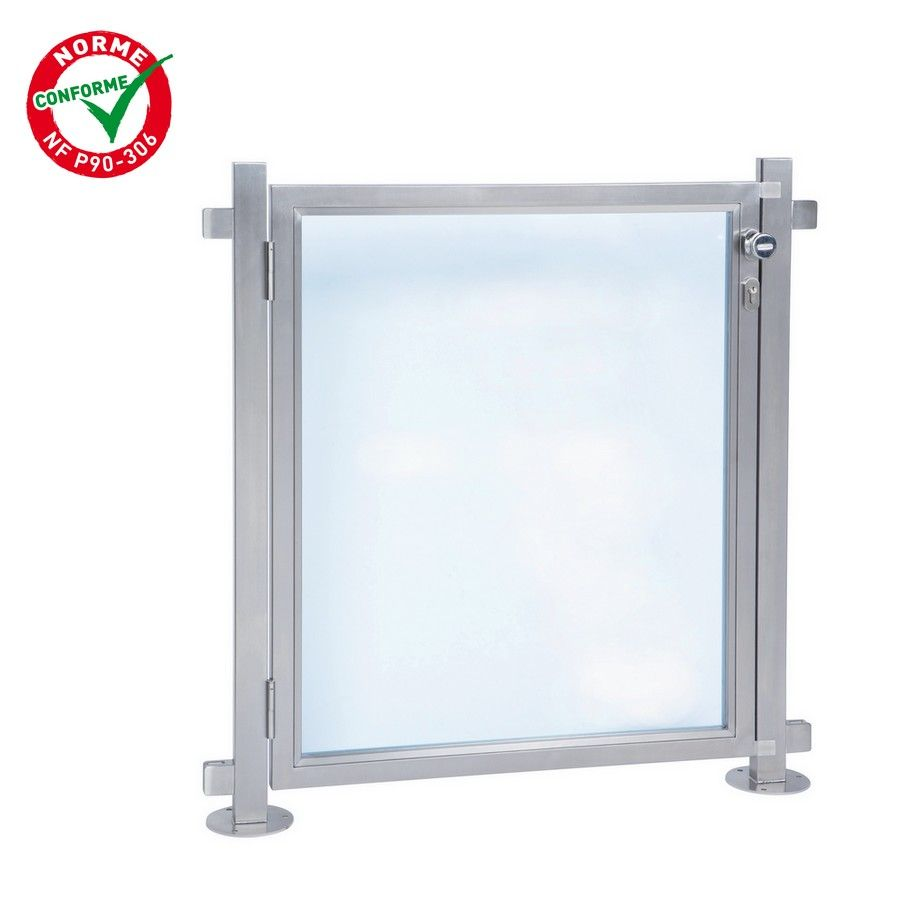 Portillon pour barri re de piscine inox 316 bross - Barriere piscine plexiglas lille ...