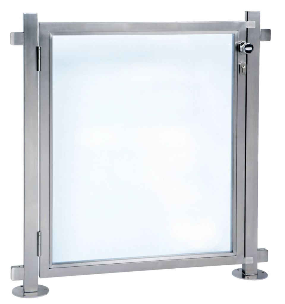 Portillon pour barri re de piscine inox 316 poli miroir for Prix piscine inox
