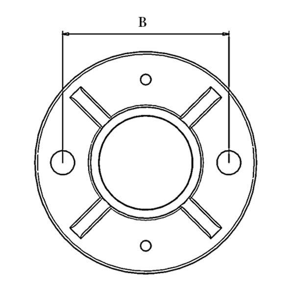 Poteau de balustrade modèle 14 - H970 mm