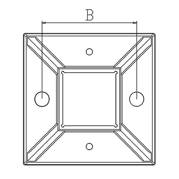Poteau de balustrade modèle 18 - H970 mm
