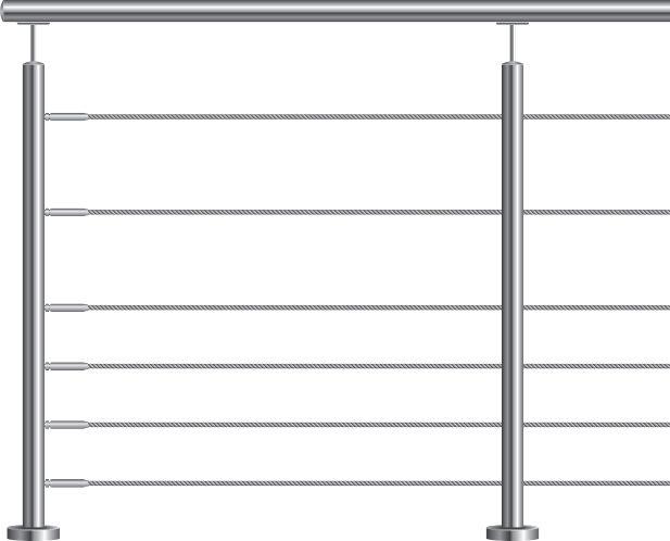 POTEAU FIXATION FRANCAIS 6 CABLES DESIGN