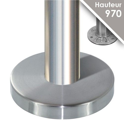 Poteau modèle 23 - H 970 mm + cache embase Ø110/120 mm + joint torique