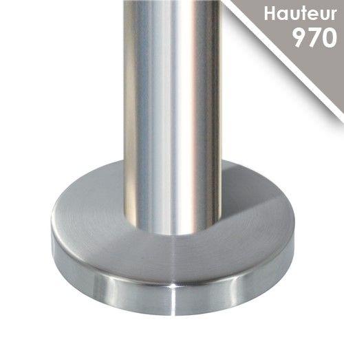 Poteau modèle 24 - H 970 mm + cache embase Ø105 mm