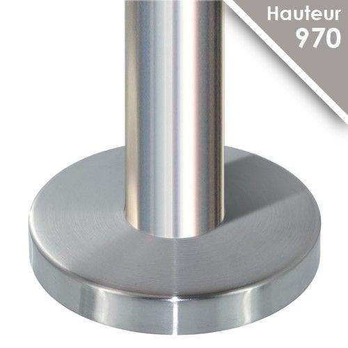 Poteau modèle 25 - H 970 mm + cache embase Ø125 mm
