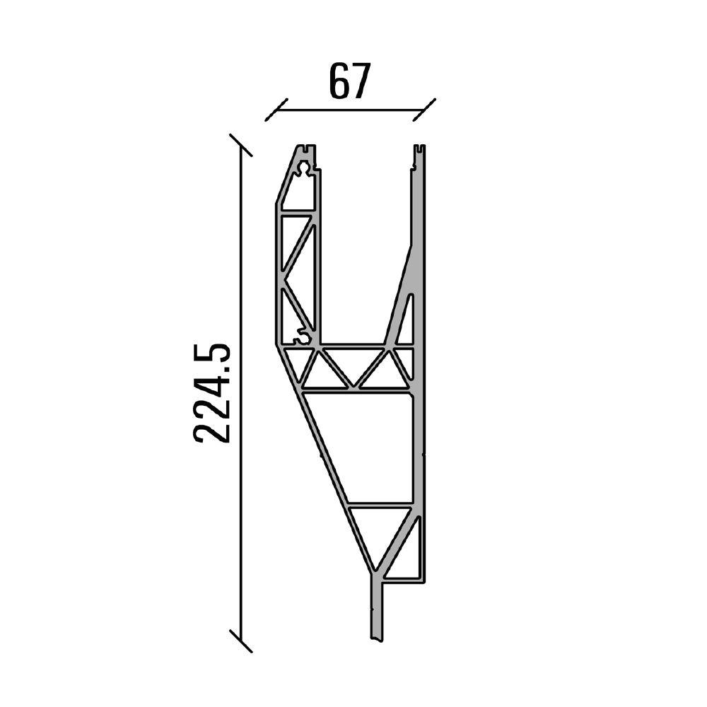 PROFIL DE SOL SB-A1 - LONGUEUR 4000 mm
