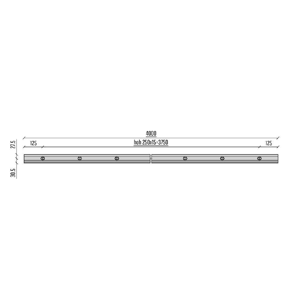 PROFIL DE SOL SB-O 0,5S - LONGUEUR 4000 mm