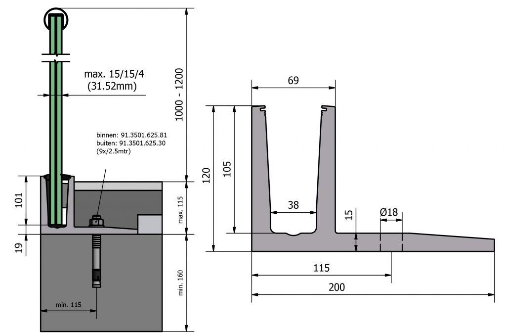 PROFIL DE SOL TL-3030 - 3.0 kN