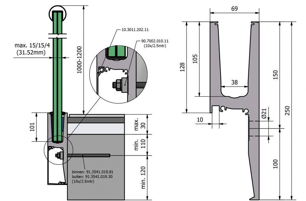 PROFIL DE SOL TL-3031 - 3.0 kN