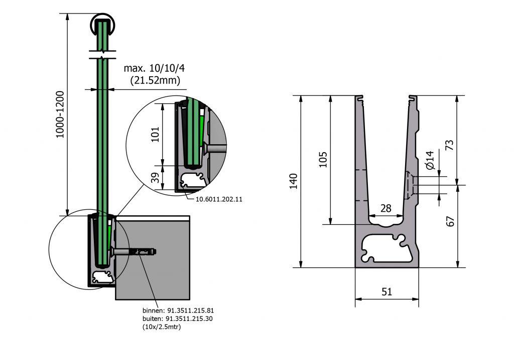 PROFIL DE SOL TL-6011 - 1.0 kN