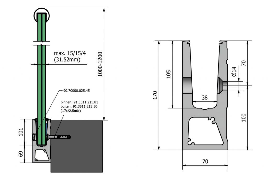 PROFIL DE SOL TL-6031 - 3.0 kN