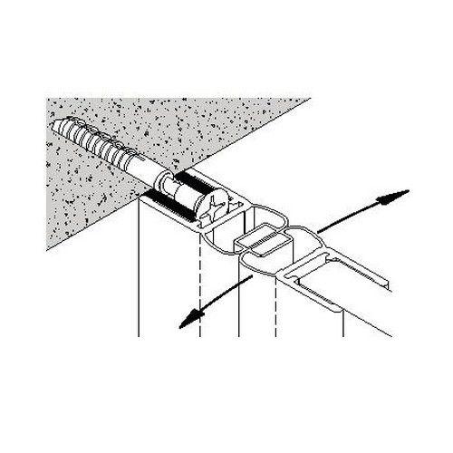 Profil mural & Joint d\'étanchéité magnétique - Longueur 2010 mm - Ep. verre 6-8 mm