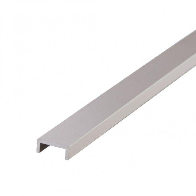 Profil U aluminium effet inox brossé