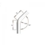Raccord 45° arrondi pour tube Ø30 mm