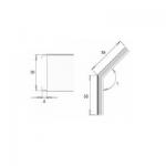 Raccord 45° pour méplat 30 x 5 mm