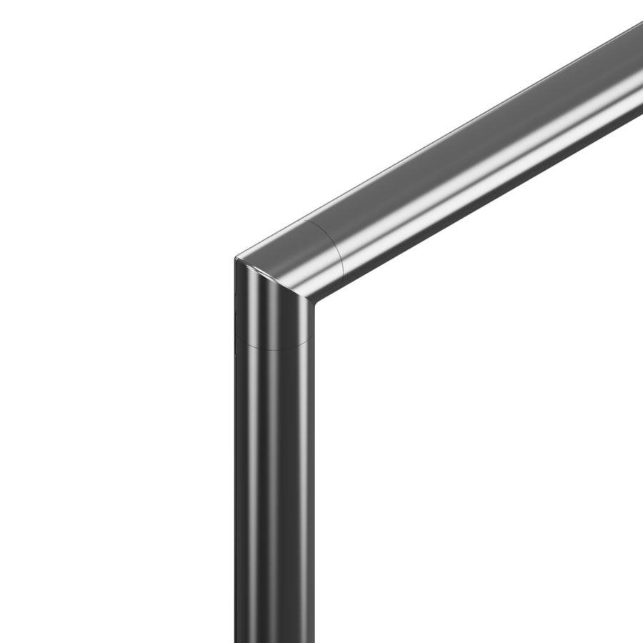 Raccord 90° angle vif poli miroir