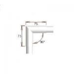 Raccord 90° angle vif pour tube Ø30 mm