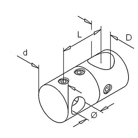 Raccord barre / barre