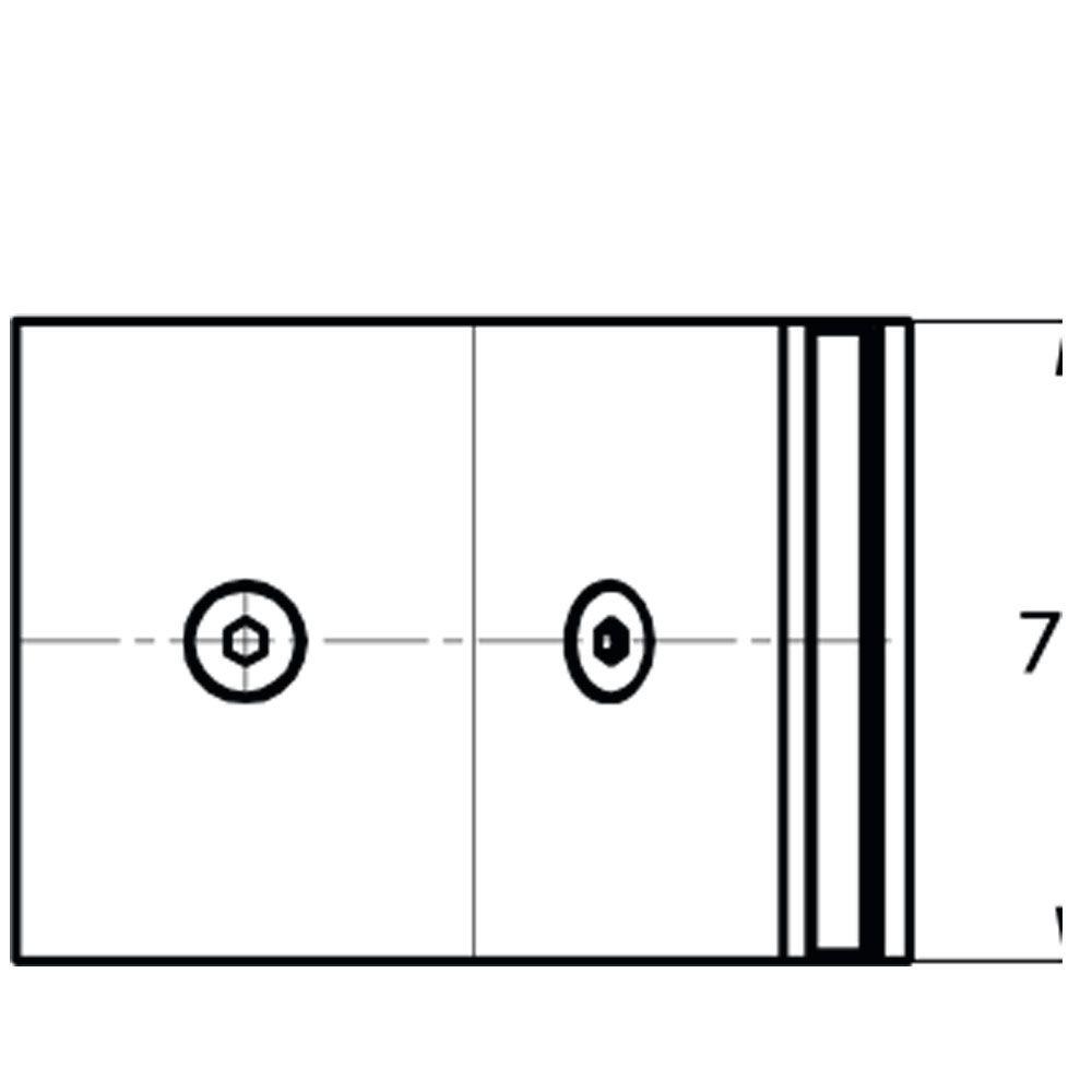 Raccord d\'angle fixe 135° verre/verre