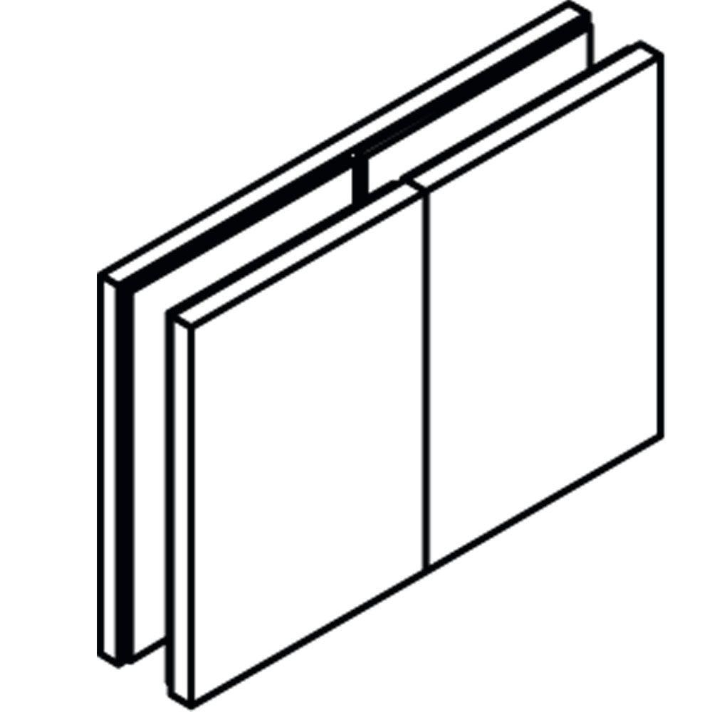 Raccord d\'angle fixe 180° verre/verre