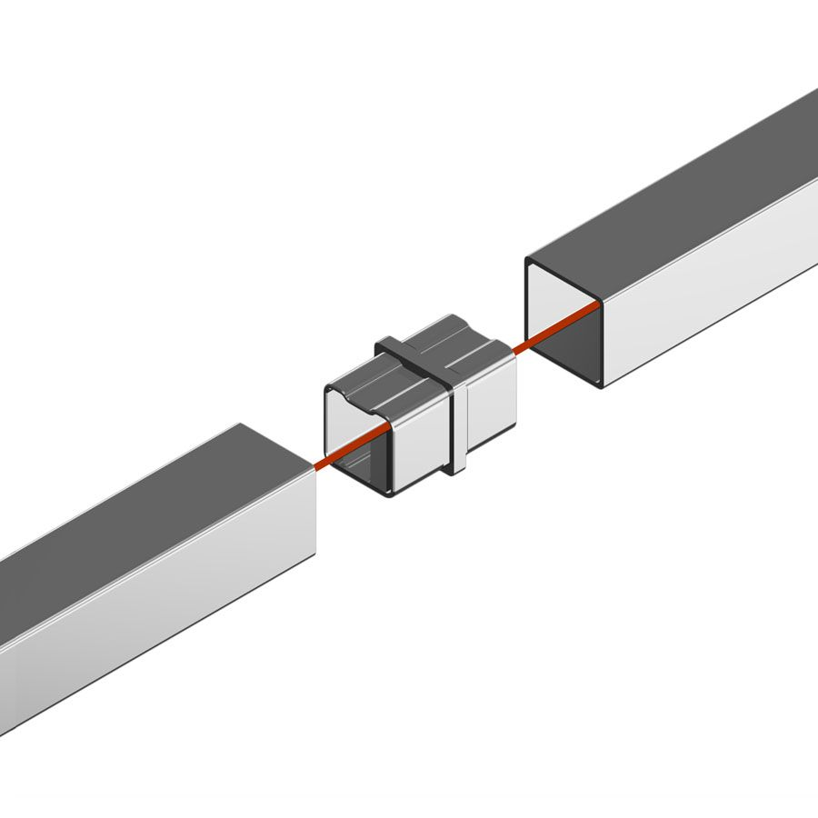 Raccord de liaison carré