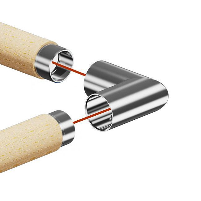 Raccord inox 90° pour main courante bois