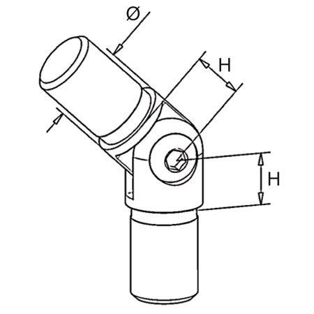 Raccord orientable Ø16 mm
