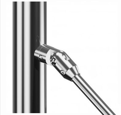 Support axial orientable - Fixation sur tube