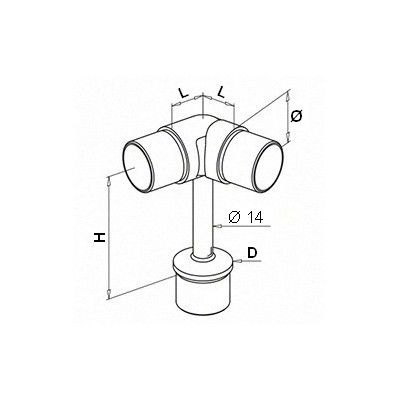 Support main courante orientable 0-70°