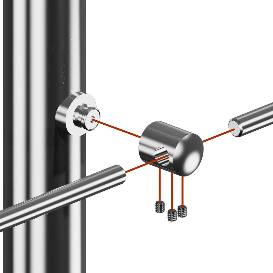 Support transversal de liaison arrondi poli miroir