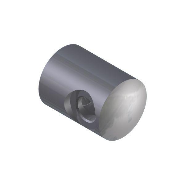 SUPPORT TRANSVERSAL GAUCHE/ PROFIL PLAT - CABLE Ø4 mm - INOX 316