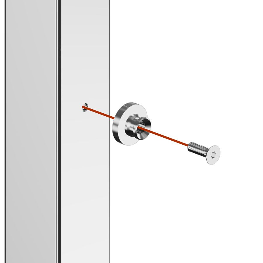 Support transversal plat poli miroir