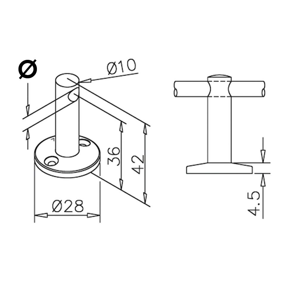 Support traversant - aspect laiton poli