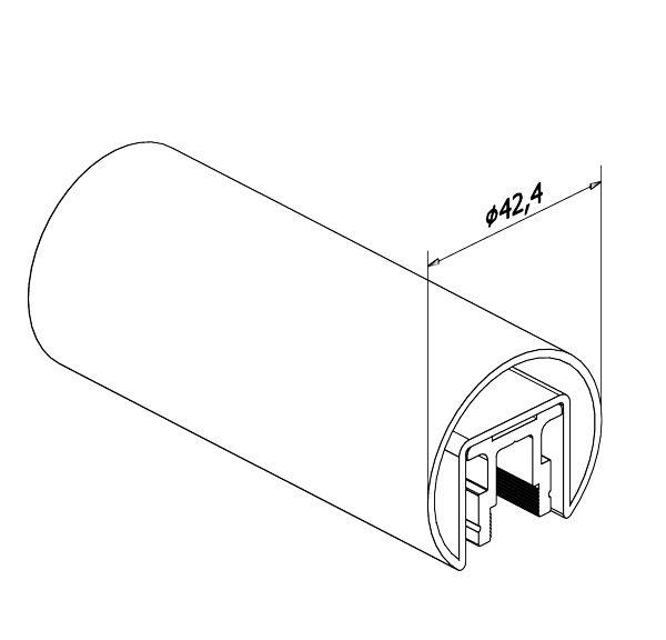 TUBE A FOND DE GORGE LED Ø42.4 mm - INOX 316